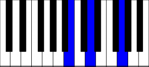 G major 1st inversion piano chord